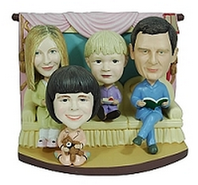 Family Of 4 Custom Bobble Head | Gift Ideas For Couples
