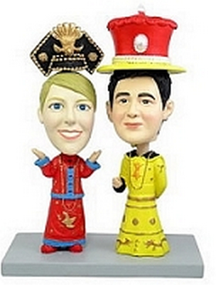 Royal Dress Couple Custom Bobble Head | Gift Ideas For Couples
