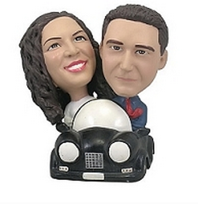 Custom Couple In Car Custom Bobble Head | Gift Ideas For Couples
