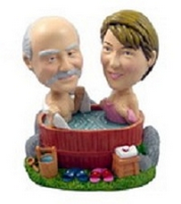 Custom Bobble Head Couple | Hot Tub Theme Gift Idea