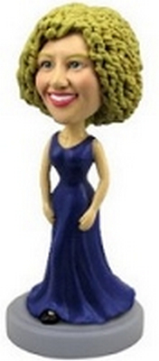 Custom Bobble Head Nice Dress (Deep Blue) | Gifts For Women