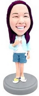 Custom Bobble Head Woman In Shorts | Gifts For Women