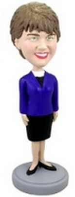 Custom Bobble Head Short Skirt Female | Gifts For Women