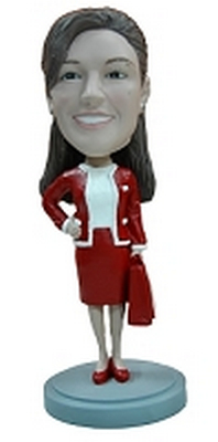 Custom Bobble Head Holiday Office Worker | Gifts For Women