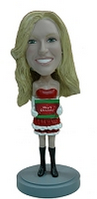 Custom Bobble Head Super Sexy Holiday Outfit 2 | Gifts For Women