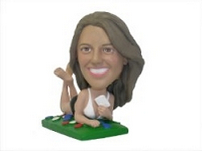 Custom Bobble Head Women On Floor (With Cards) | Gifts For Women