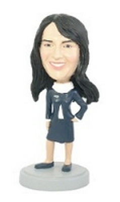 Custom Bobble Head Flight Attendant Female Bobble Head | Gifts For Women