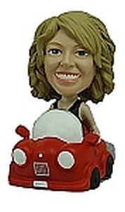 Custom bobble head Women Driving | Gifts for women