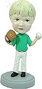 Kid Baseball outfield bubbleheads doll