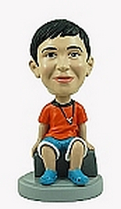 Kid Sitting custom bobblehead doll