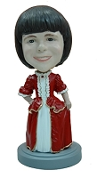 Holiday fancy dress custom bobblehead doll