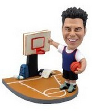Basketball Player on court custom bobblehead doll