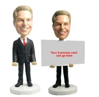 Business Card Holder - Male 2 Personalized Bobble Head | Gift Ideas For Men