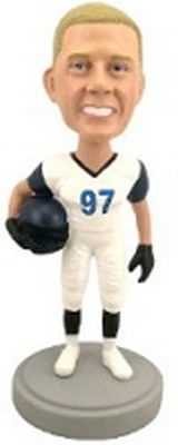 Football Player custom bobblehead doll