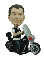 Motorcycle Man custom bobblehead doll 2 (bobbing doll)
