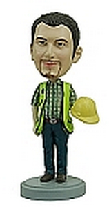 Construction Worker Custom Bobble Head | Gift Ideas For Men