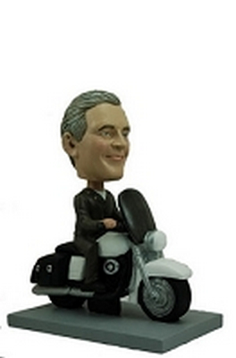 Motorcycle Man custom bobblehead doll 3 (bobbing doll)