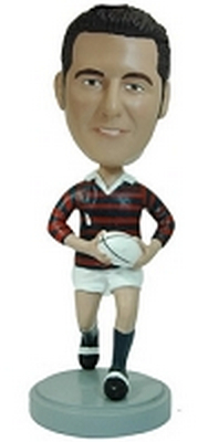 Football Player Custom Bobble Head (Rugby)
