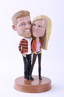 Loving Couple Custom Bobble Head Premium | Gift Ideas For Couples
