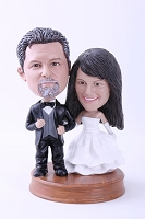 Wedding Couple Custom Bobble Head Premium 2 (Bobbing )