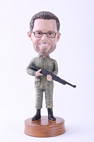Man With Gun Custom Bobble Head | Gift Ideas For Men