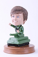 Army Soldier Inside A Tank Personalized Bobble Head | Gift Ideas For Men