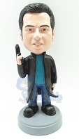 Custom Bobble Head Secret Agent | Gifts For Men
