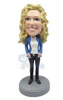 Custom Bobble Head Girl With Her Arms Down | Gifts For Women