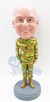 Military Custom Bobble Head Standing With His Arms Down | Gift Ideas For Men