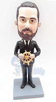 Captain Steering His Ship Personalized Bobble Head | Gift Ideas For Men