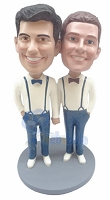 Same Sex Male Couple Custom Bobble Head 3 | Gift Ideas For Couples