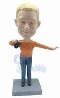 Custom Bobble Head Cameraman | Holding Camera Bobble Head