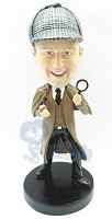Sherlock Holmes Style Custom Bobble Head Premium | Gift Ideas For Men