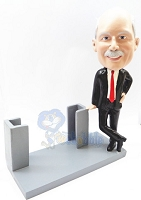 Business Card Holder | Male Personalized Bobble Head
