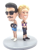 Work Out Couple Custom Bobble Head Premium | Gift ideas for couples