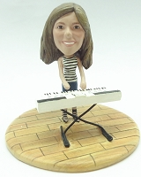 Custom Bobble Head Female Keyboard Player Premium | Gifts For Women