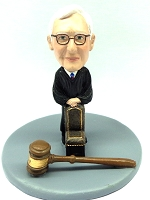 Judge Male With A Chair And Gavel Custom Bobble Head Premium | Gift ideas for men