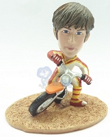 Male On Dirt Bike Custom Bobble Head Premium | Gift ideas for men