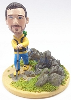 Male Hiker Custom Bobble Head Premium | Gift Ideas For Men