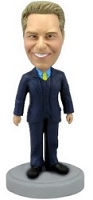 Male In Suit custom bobblehead doll