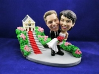Man And Women With Church Custom Bobble Head | Gift ideas for weddings