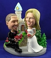 Wedding Custom Bobble Head Proposing | Gift ideas for weddings