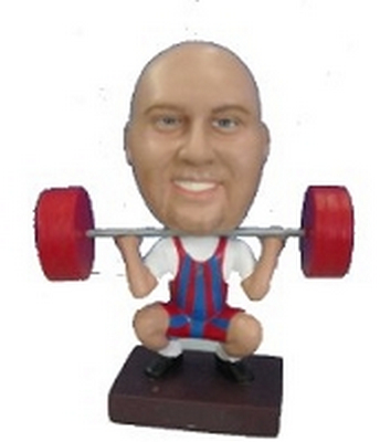 Male Weight lifter custom bobblehead doll