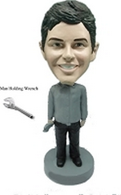 Man Holding Wrench Custom Bobble Head | Gift Ideas For Men