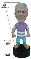 "Super Large 24"" Full Custom Bobble Head (Bobbing )"