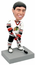 Hockey Player Action Pose Custom Bobble Head | Gift Ideas For Men