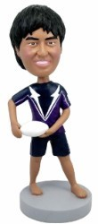 Frisbee player custom bobblehead doll
