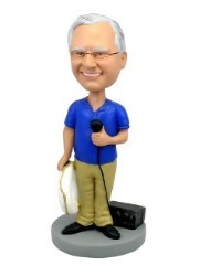 Skipper- Holding A Radio And A Life Ring Custom Bobble Head | Gift Ideas For Men