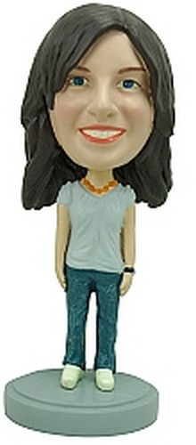 Casual Female custom bobblehead doll 2