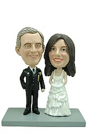 Bride and Groom - Military custom bobblehead doll